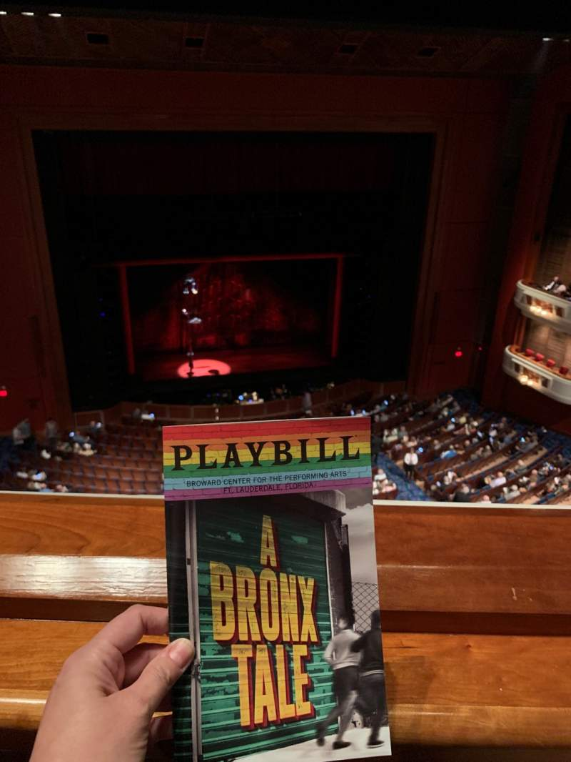 Seating view for Au-Rene Theatre at the Broward Center Section Balcony LC Row A Seat 119
