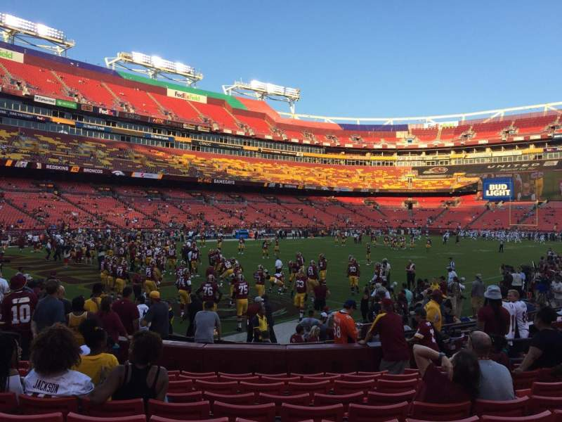Seating view for FedEx Field Section 106 Row 10 Seat 16