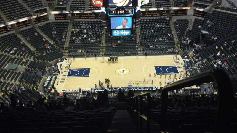 Seating view for Bankers Life Fieldhouse Section 208 Row 23 Seat 26