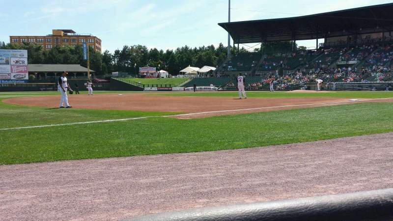 Seating view for Frontier Field Section 129 Row A Seat 7