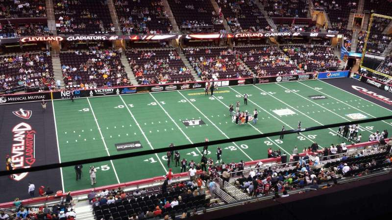 Seating view for Quicken Loans Arena Section 223 Row 1 Seat 15