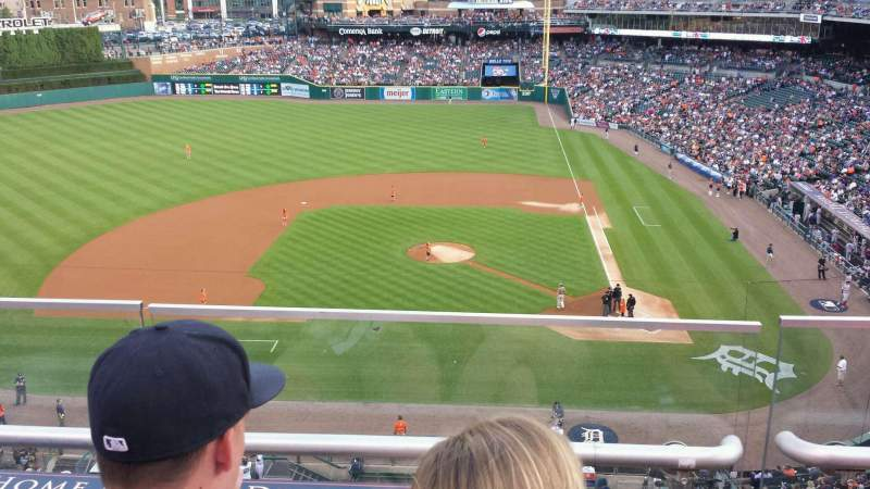 Seating view for Comerica Park Section 332 Row B Seat 12