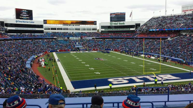 Seating view for New Era Field Section 202 Row 8 Seat 6