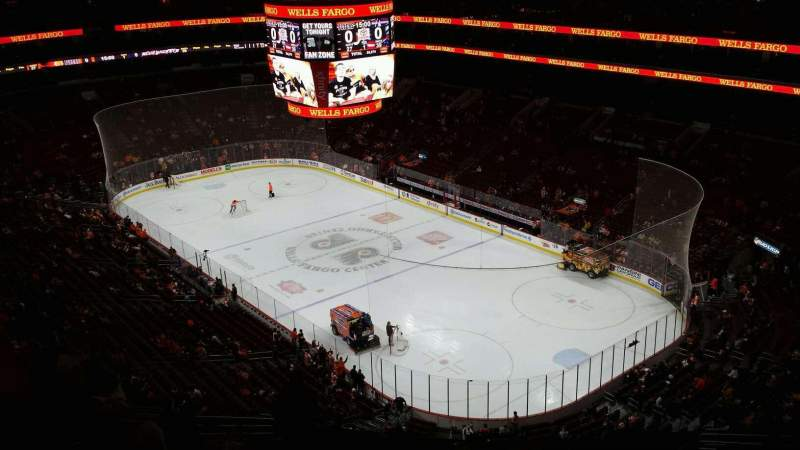 Seating view for Wells Fargo Center Section 217 Row 15 Seat 10