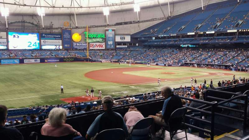 Seating view for Tropicana Field Section 129 Row PP Seat 11