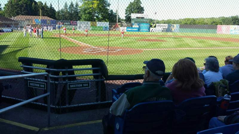 Seating view for Falcon Park Section 104 Row E Seat 16