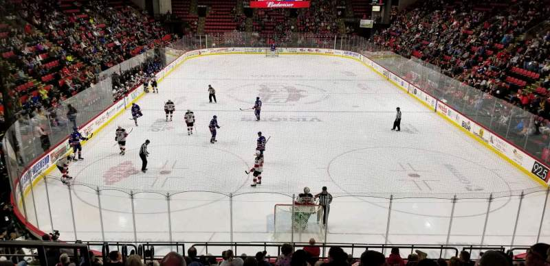 Seating view for Floyd L. Maines Veterans Memorial Arena Section 8 Row K Seat 14