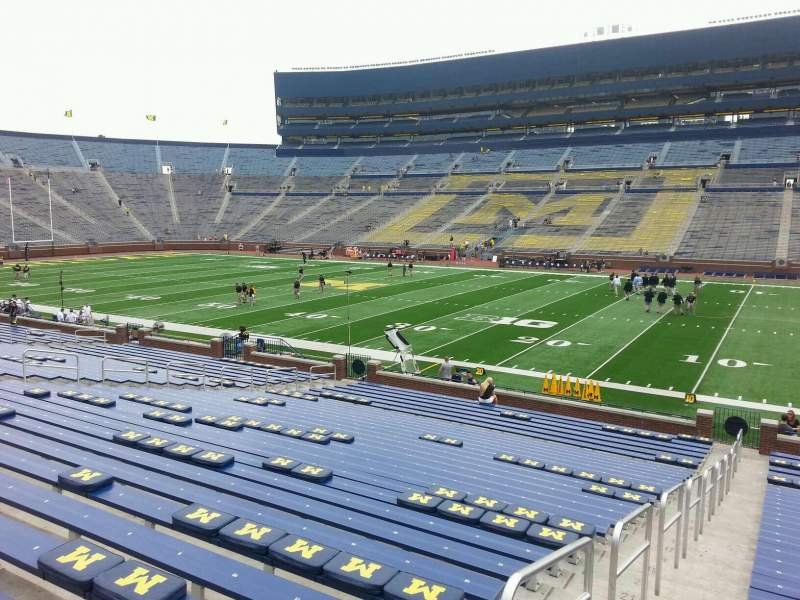 Seating view for Michigan Stadium Section 20 Row 30 Seat 13