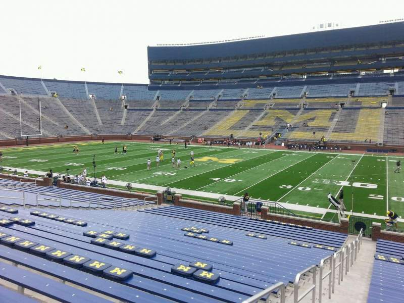 Seating view for Michigan Stadium Section 21 Row 30 Seat 13