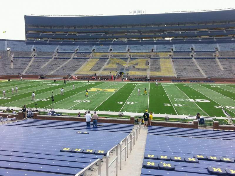 Seating view for Michigan Stadium Section 22 Row 30 Seat 13