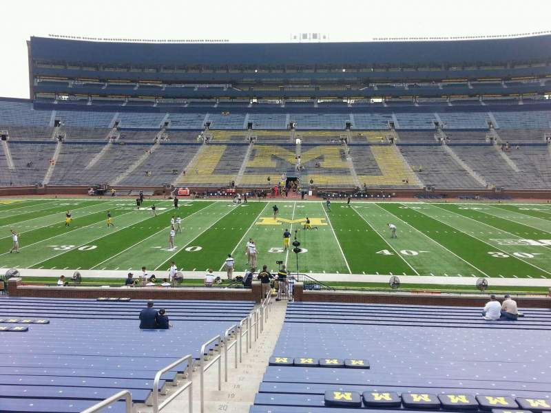 Seating view for Michigan Stadium Section 23 Row 30 Seat 13