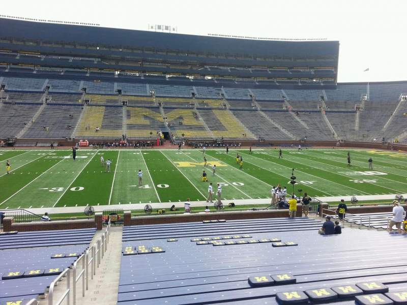Seating view for Michigan Stadium Section 24 Row 30 Seat 13