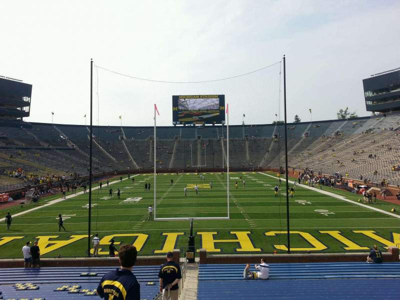 Seating view for Michigan Stadium Section 34 Row 30 Seat 13