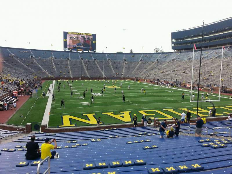 Seating view for Michigan Stadium Section 36 Row 30 Seat 10