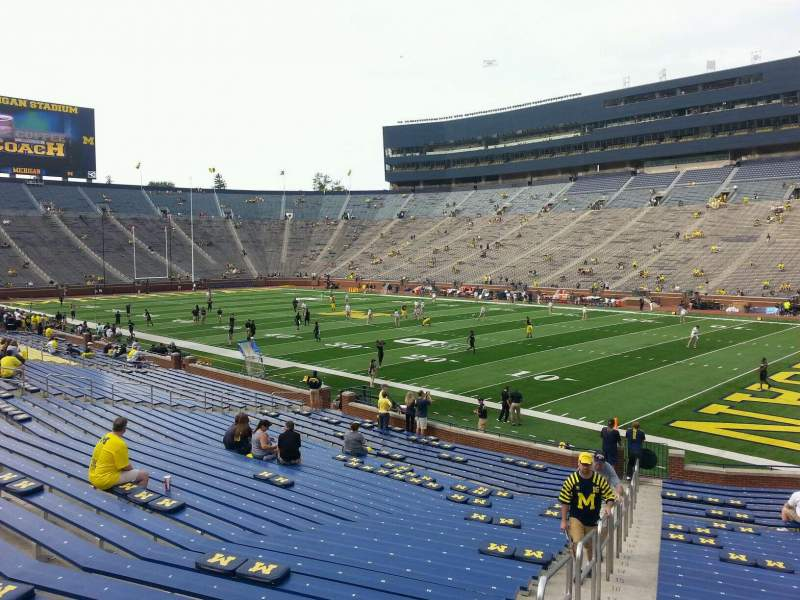 Seating view for Michigan Stadium Section 40 Row 30 Seat 10