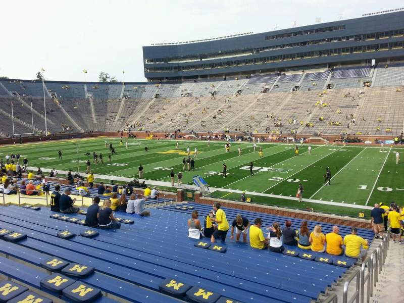 Seating view for Michigan Stadium Section 42 Row 30 Seat 13
