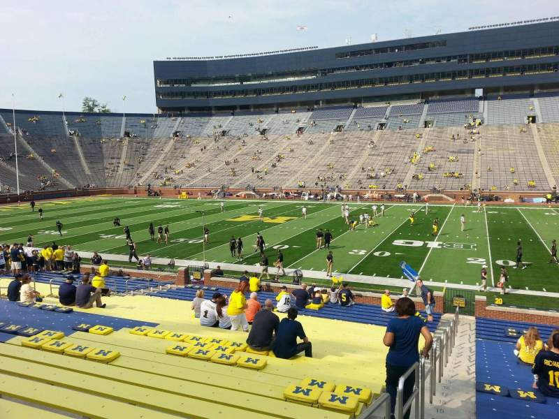 Seating view for Michigan Stadium Section 43 Row 30 Seat 13
