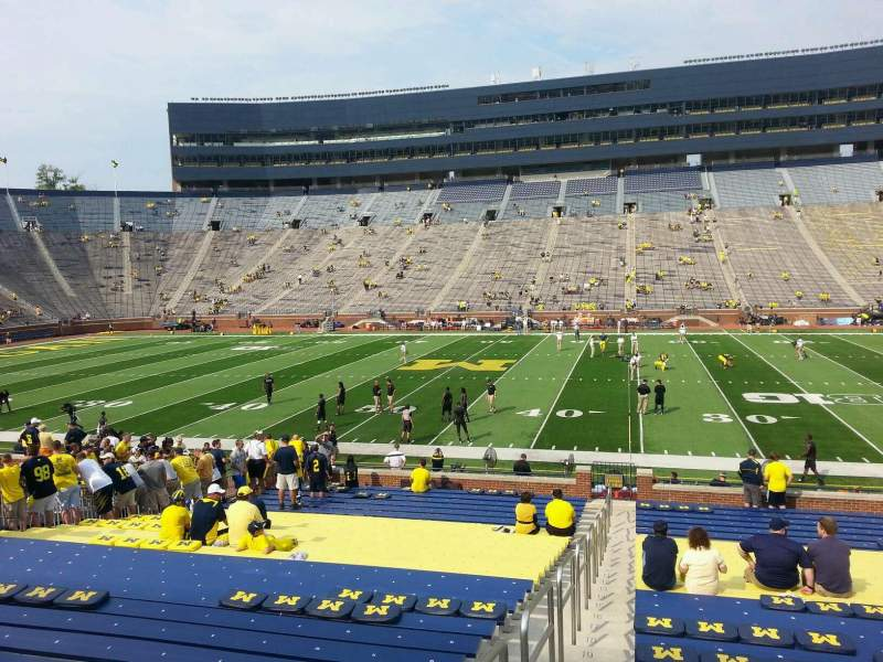 Seating view for Michigan Stadium Section 44 Row 30 Seat 13