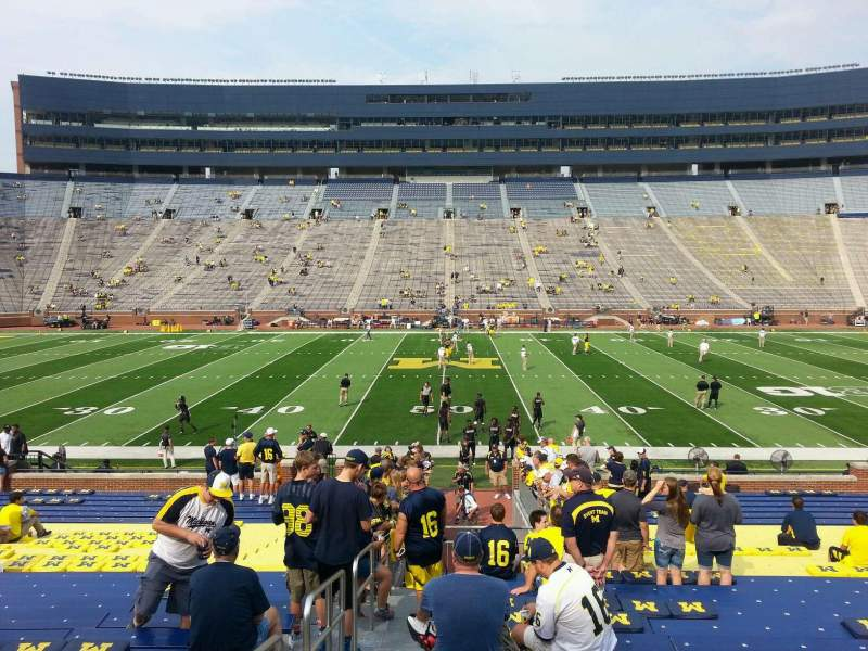 Seating view for Michigan Stadium Section 1 Row 30 Seat 13