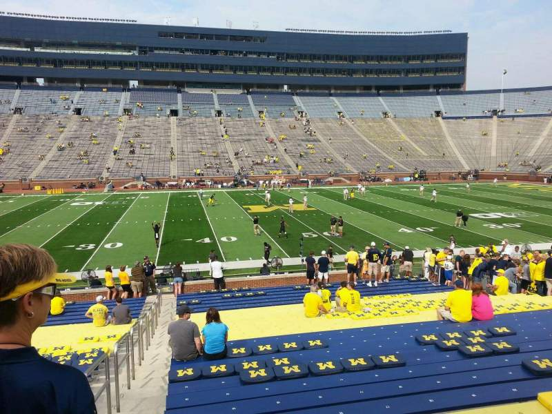 Seating view for Michigan Stadium Section 2 Row 30 Seat 13