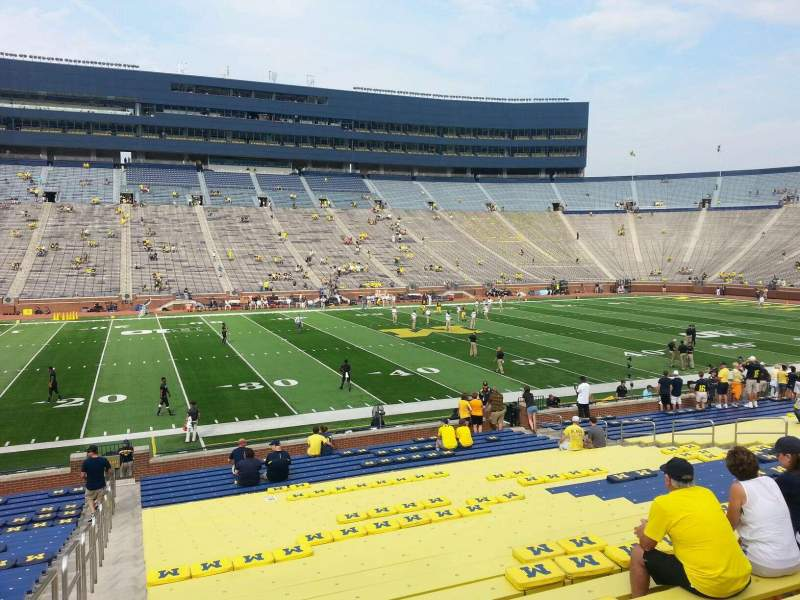 Seating view for Michigan Stadium Section 3 Row 30 Seat 13