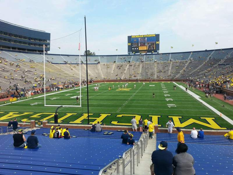 Seating view for Michigan Stadium Section 11 Row 30 Seat 13