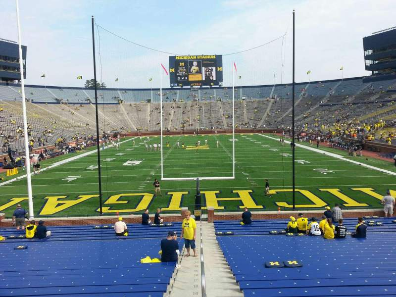 Seating view for Michigan Stadium Section 12 Row 30 Seat 13