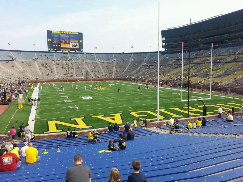 Seating view for Michigan Stadium Section 14 Row 30 Seat 10