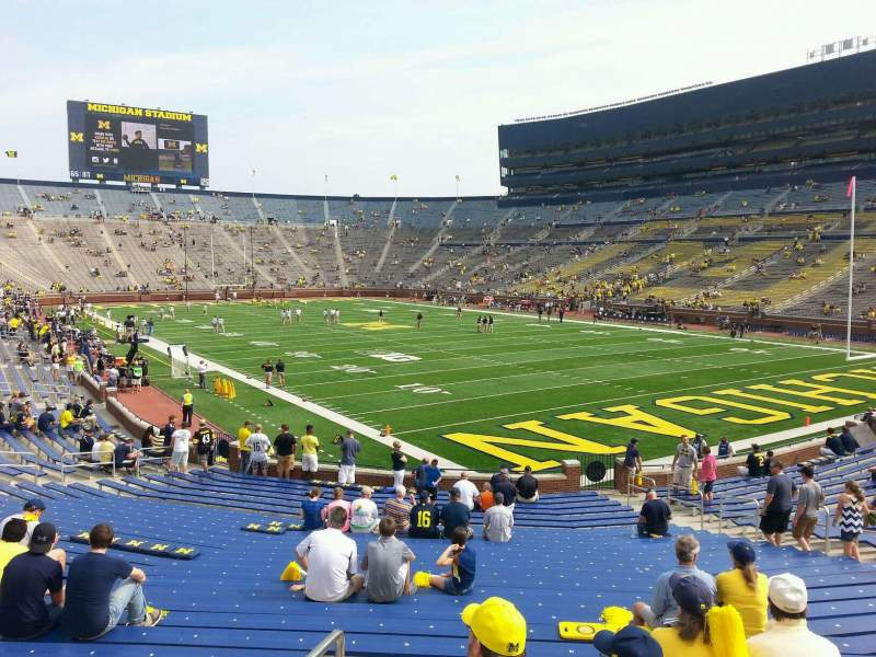 Seating view for Michigan Stadium Section 16 Row 30 Seat 10