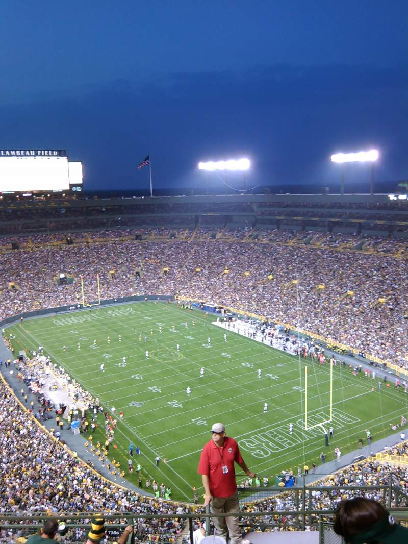 Seating view for Lambeau Field Section 738S