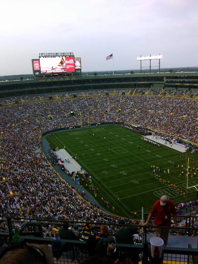 Seating view for Lambeau Field Section 738S Row 11 Seat 11