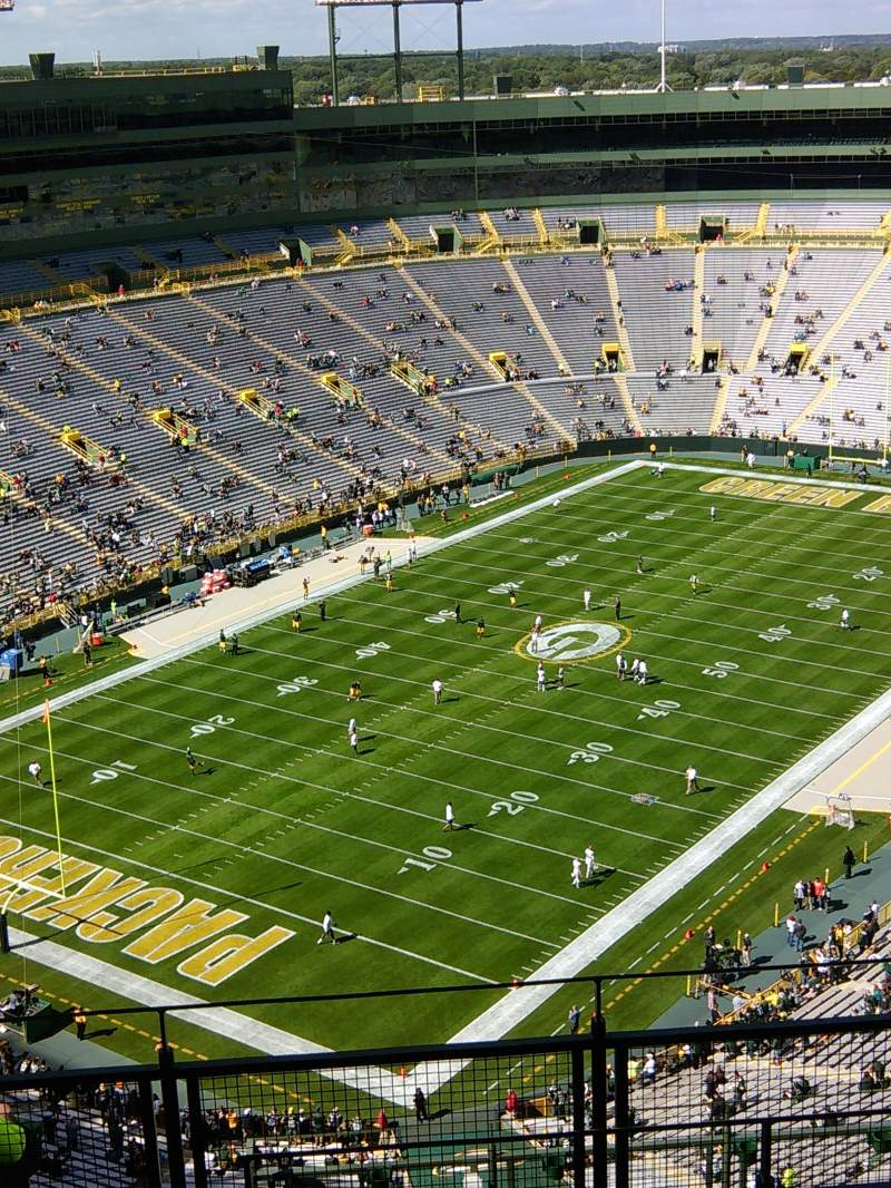 Seating view for Lambeau Field Section 737S Row 12 Seat 1