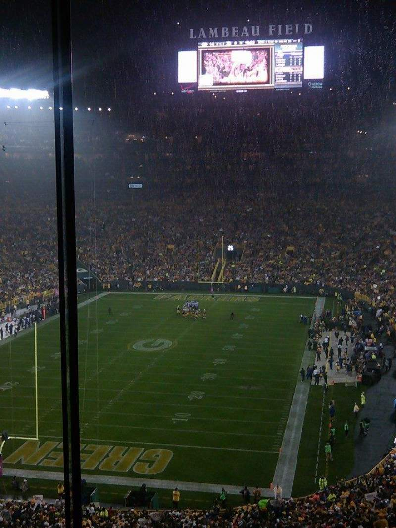 Seating view for Lambeau Field Section 478 Row 3 Seat 20
