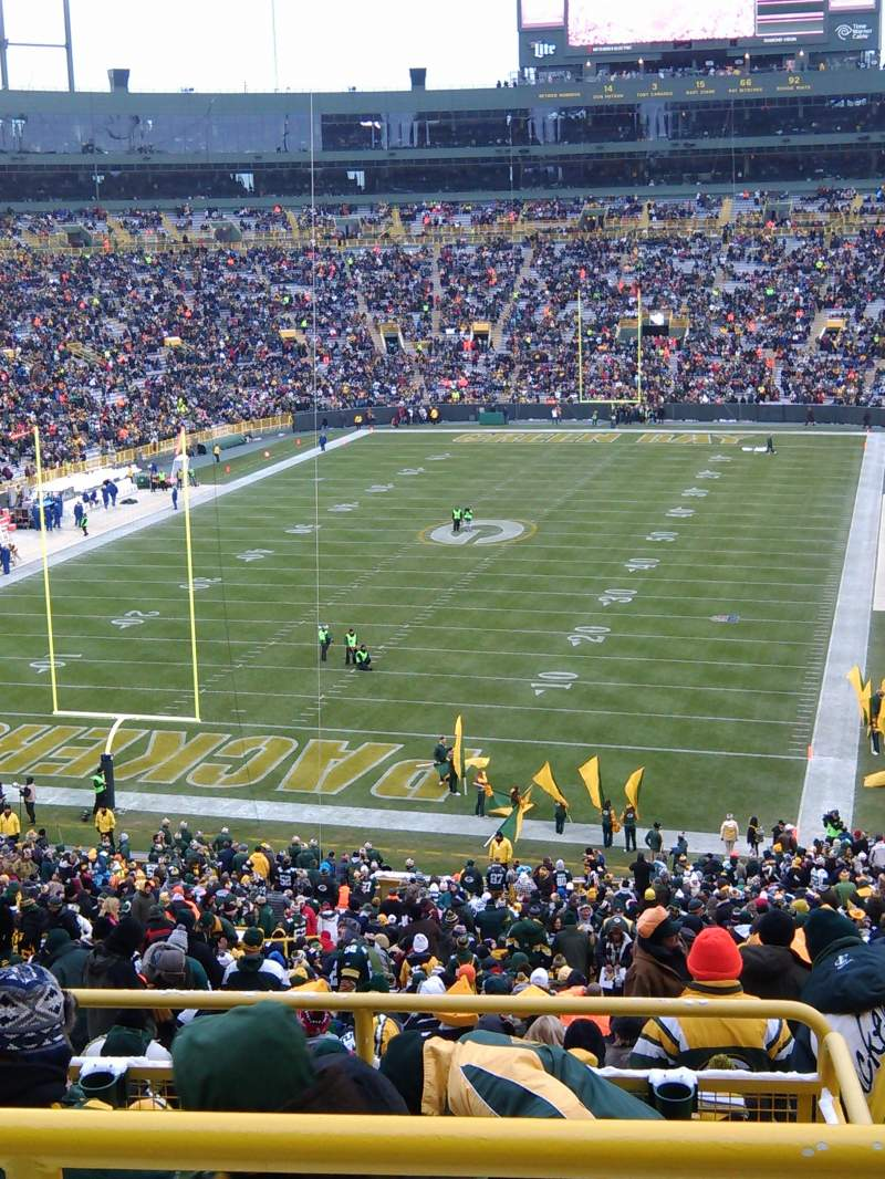Seating view for Lambeau Field Section 351 Row 2 Seat 2
