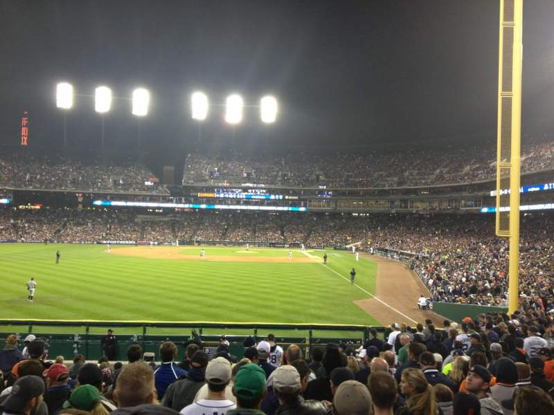 Seating view for Comerica Park Section 147 Row S Seat 6