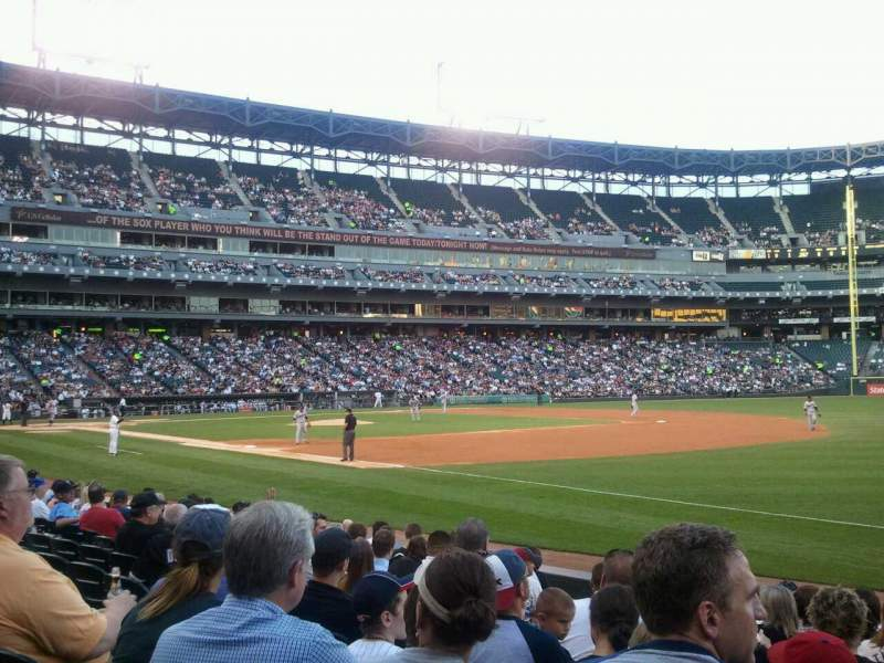 Seating view for U.S. Cellular Field Section 117 Row 10 Seat 6