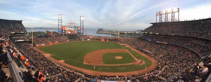 Seating view for AT&T Park Section View Box 323 Row D Seat 10