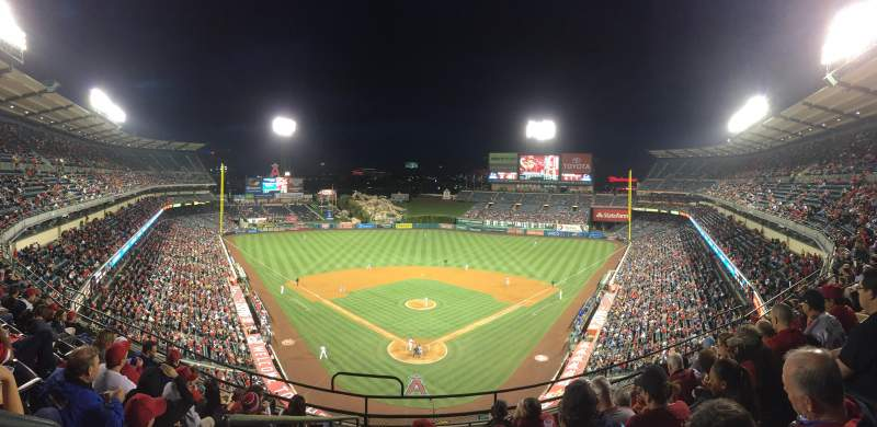 Seating view for Angel Stadium Section V419 Row G Seat 1
