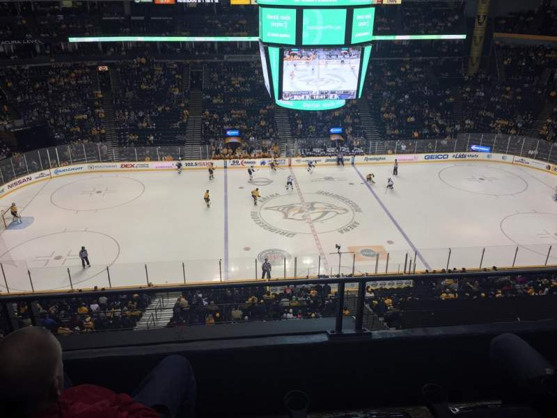 Seating view for Bridgestone Arena Section 309 Row C Seat 14