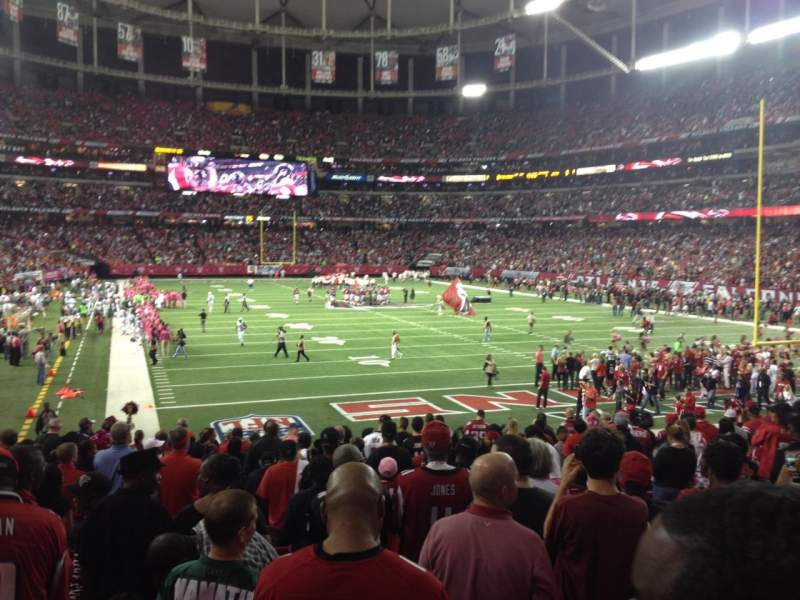 Seating view for Georgia Dome Section 128 Row 19 Seat 18