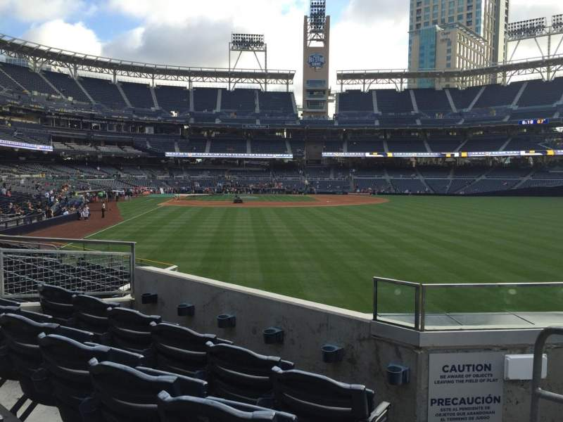 Seating view for PETCO Park Section 129 Row 4 Seat 9