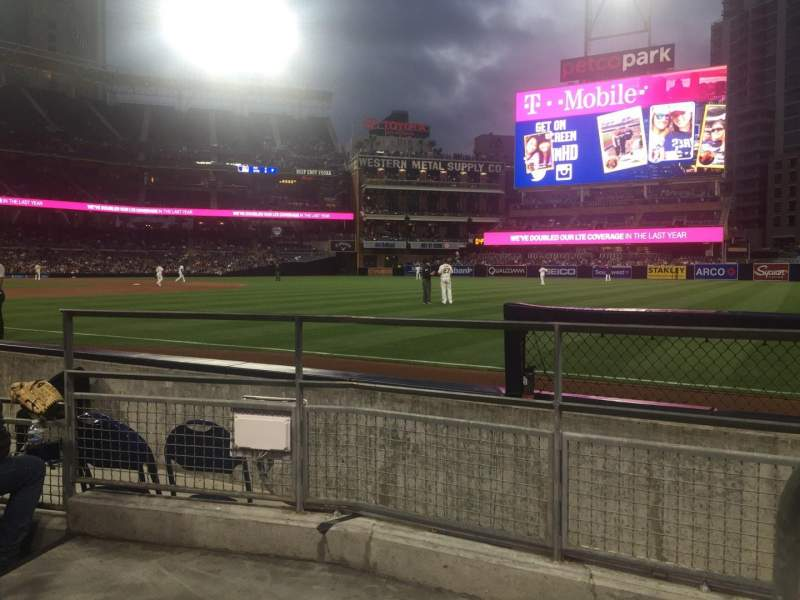 Seating view for PETCO Park Section 119 Row 7 Seat 1