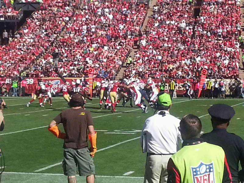 Seating view for Candlestick Park Section 20 Row A Seat 15