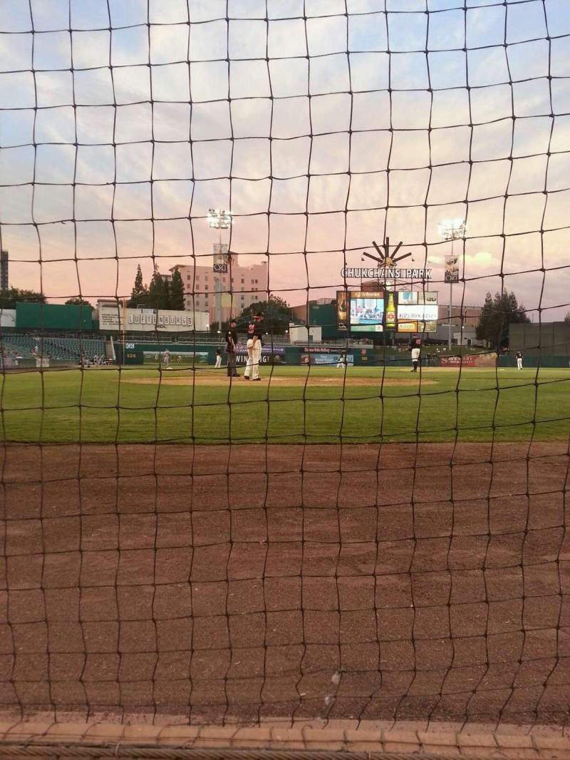 Seating view for Chukchansi Park Section Dug Out Club Row Table D Seat 1