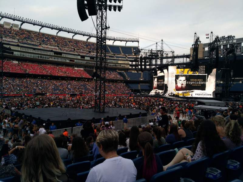 Seating view for Gillette Stadium Section 135 Row 13 Seat 12