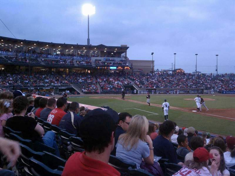 Seating view for Coca-Cola Park Section 105 Row L Seat 20