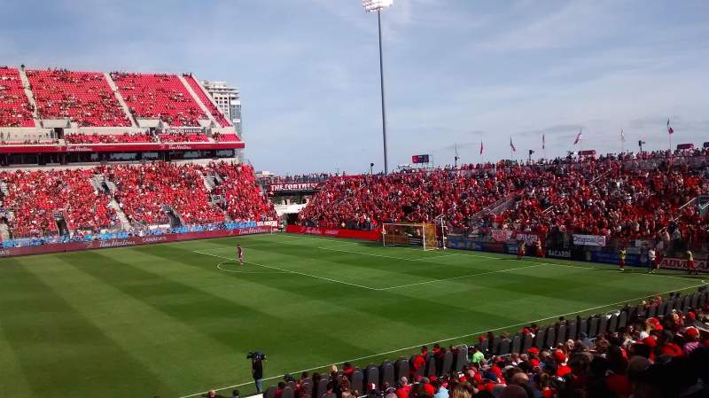 Seating view for BMO Field Section 123 Row 14