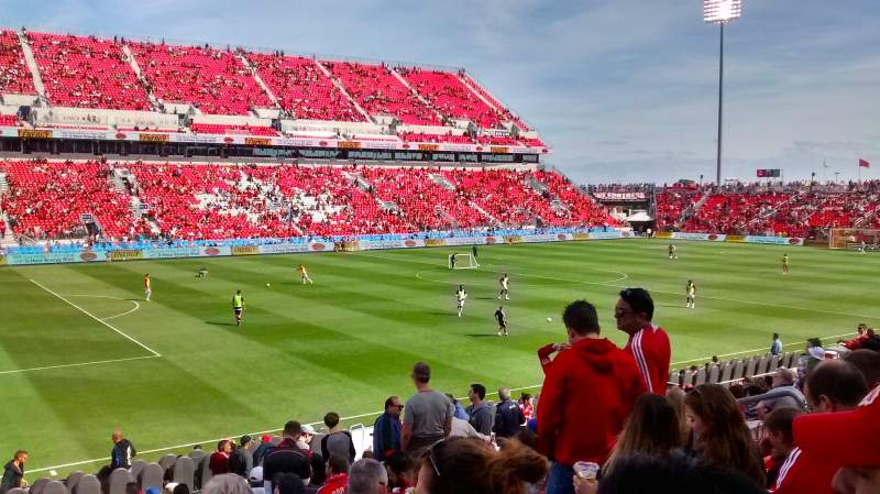 Seating view for BMO Field Section 126 Row 12 Seat 14