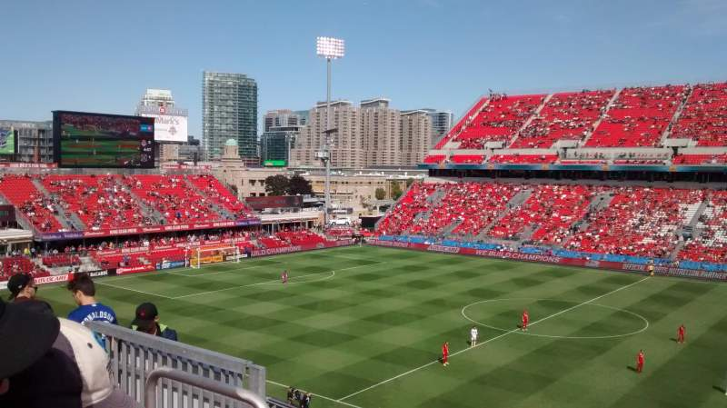 Seating view for BMO Field Section 221 Row 10 Seat 20