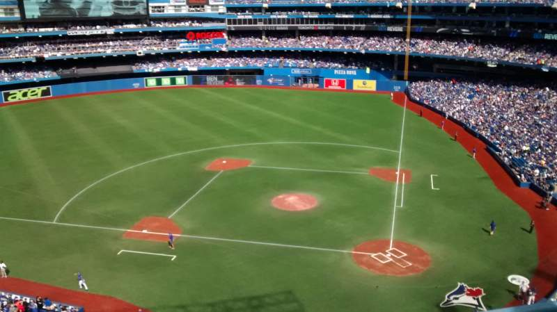 Seating view for Rogers Centre Section 527R Row 3 Seat 5